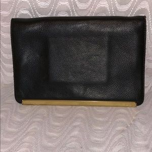 Madewell Black Leather Clutch